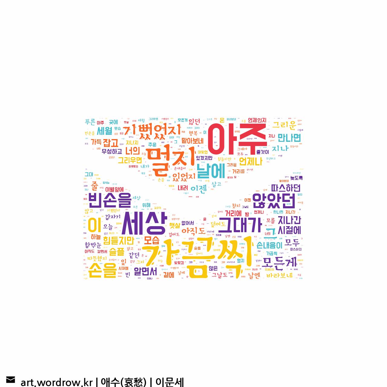워드 아트: 애수(哀愁) [이문세]-62
